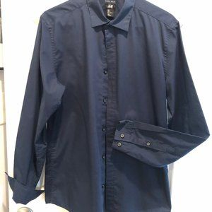 Men's H&M Dark Blue Dress Shirt